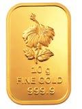 Barra de ouro Imagem de Stock