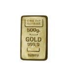 Barra de ouro foto de stock