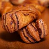 Barra de pan gemela del chocolate Fotos de archivo libres de regalías