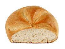 Barra de pan grande aislada en blanco imagenes de archivo