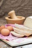Barra de pan recientemente cocida de pain de campagne del francés Foto de archivo libre de regalías