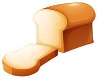 Barra de pan y sola rebanada ilustración del vector