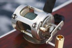 Barra de pesca con el carrete Fotos de archivo libres de regalías