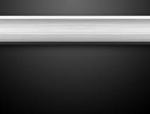 Barra de plata de aluminio Fotos de archivo libres de regalías