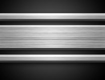 Barra de plata de aluminio Fotos de archivo