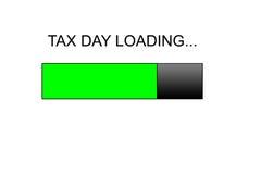 Barra de progreso cargada del día del impuesto Fotografía de archivo