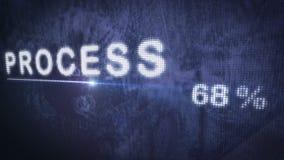 Barra de progreso de proceso con el primer del contador del porcentaje metrajes