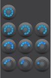 Barra de progreso radial Imágenes de archivo libres de regalías