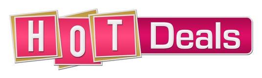 Barra de quadrados cor-de-rosa dos negócios quentes ilustração do vetor