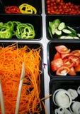 Barra de salada Fotografia de Stock Royalty Free