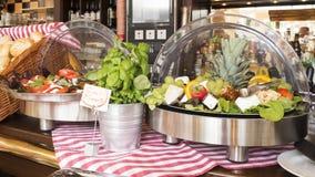 Barra de salada do autosservi Fotografia de Stock