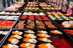 Barra de sushi Fotografia de Stock