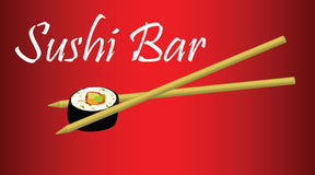 Barra de sushi stock de ilustración