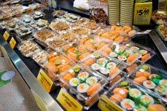 Barra de sushi Fotografía de archivo libre de regalías