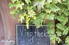 Barra de vinho do sinal Imagens de Stock
