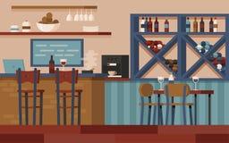 Barra de vinho vazia ilustração royalty free