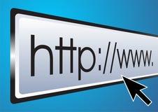 Barra del browser Fotografia Stock