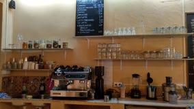 Barra del café imagen de archivo