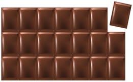 Barra del chocolate stock de ilustración