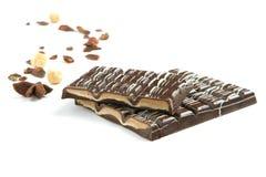 Barra del chocolate - aislado en blanco Fotos de archivo