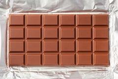 Barra del chocolate con leche Fotos de archivo libres de regalías