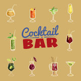 Barra del cocktail, invito, aletta di filatoio illustrazione vettoriale