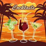 Barra del cocktail, invito, aletta di filatoio illustrazione di stock