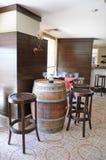 Barra del degustation del vino Imágenes de archivo libres de regalías