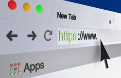 Barra del direccionamiento del web browser Imágenes de archivo libres de regalías