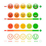 Barra del Emoticon de la reacción Reacción Emoji imagen de archivo libre de regalías