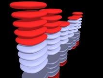 Barra del equalizador Imagen de archivo libre de regalías