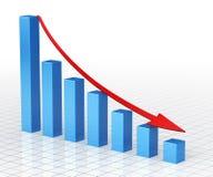 Barra del gráfico de negocio Imagen de archivo