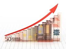 Barra del gráfico de negocio stock de ilustración