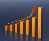 Barra del gráfico de negocio Imagenes de archivo