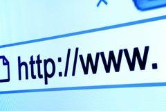 Barra del hojeador del HTTP WWW Fotos de archivo