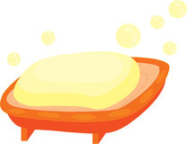 Barra del jabón stock de ilustración