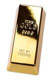 Barra del lingote de oro Fotos de archivo