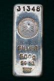 Barra del lingotto d'argento degli Emirati Arabi Uniti Fotografia Stock