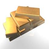 Barra del oro 3d Imagenes de archivo