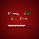 Barra del progreso del caramelo del Año Nuevo Fotos de archivo