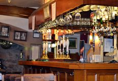 Barra del Pub Fotografía de archivo