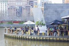 Barra del restaurante en Melbourne durante d3ia Fotos de archivo libres de regalías