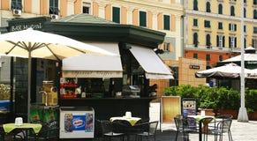 Barra del terrazzo del chiosco a Genova Fotografia Stock