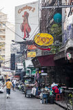 Barra del vaquero en Bangkok Fotografía de archivo libre de regalías
