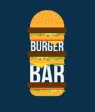 Barra dell'hamburger illustrazione di stock