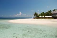 Barra della spiaggia nei Maldives Fotografia Stock Libera da Diritti