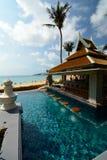Barra della spiaggia in una località di soggiorno tropicale Phuket thailand Fotografie Stock Libere da Diritti