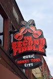 Barra delle seconde fiddle a Nashville immagine stock libera da diritti