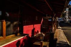 Barra Desolated del café Fotografía de archivo