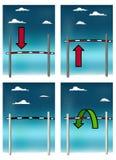 Barra di alto salto Immagini Stock